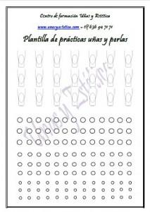 Plantilla de prácticas de uñas de acrílico