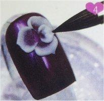 Flor acrílica en 3D