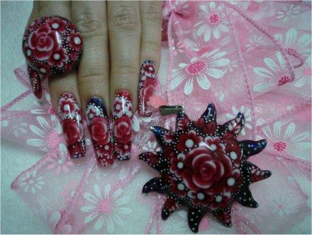 Bisutería con acrílico para uñas