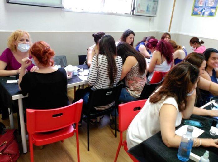 Alumnas del curso de uñas de acrílico y gel en Madrid 5/6/16