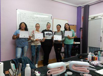 Foto del curso de decoración de uñas del día 25/09/16