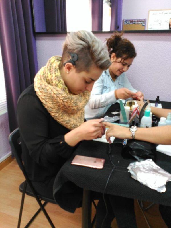 Fotos de las alumnas del curso de esmalte permanentedel día 11/12/16