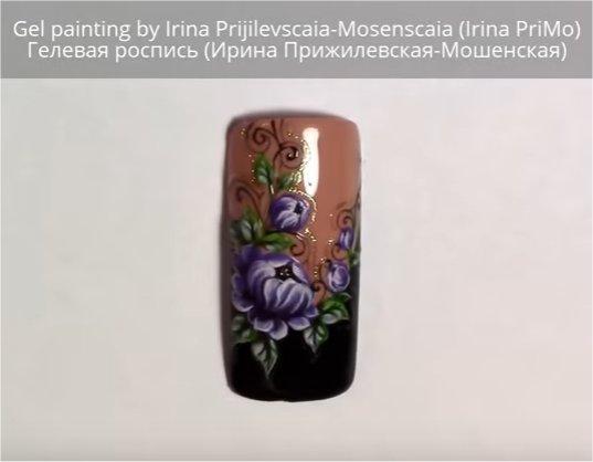 Flor con gel Painting por Irina PriMo