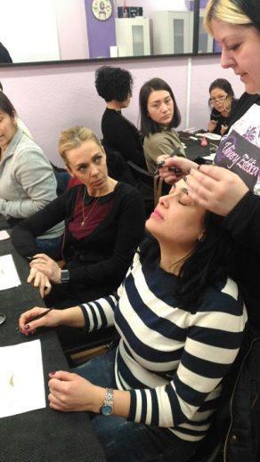 Fotos de las alumnas cursos de extensiones de pestañas 22/01/2017 (mañana)