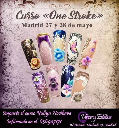 CURSO DIBUJO EN UÑAS - CURSO ONE STROKE EN MADRID