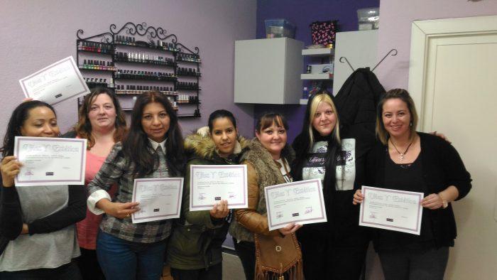 Foto con alumnas del curso de Nail Art 05/02/17