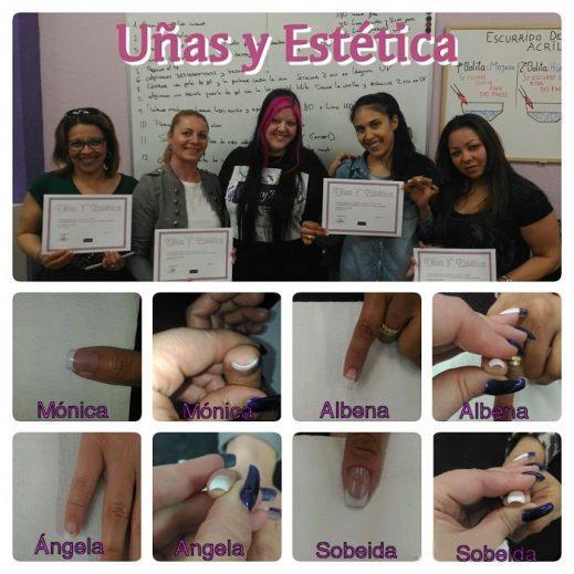 Fotos de las alumnas del curso de uñas de acrílico y gel del día 12/04/17