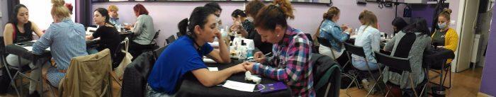 Fotos de las alumnas del curso de uñas de acrílico y gel del día 09/04/17