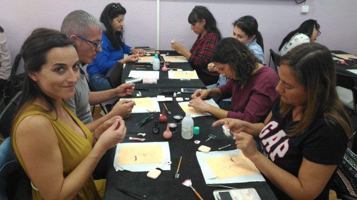 Fotos de los alumnos del curso de extensiones de pestañas del día 24/09/17