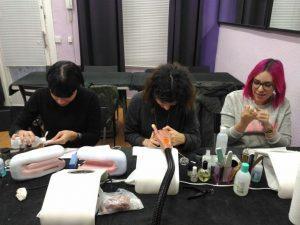 Fotos de las alumnas del curso de uñas de gel y acrílico en grupo reducido 15/11/2017
