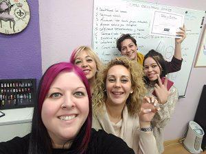 Fotos de las alumnas del curso de uñas de gel y acrílico en grupo reducido 29/12/2017