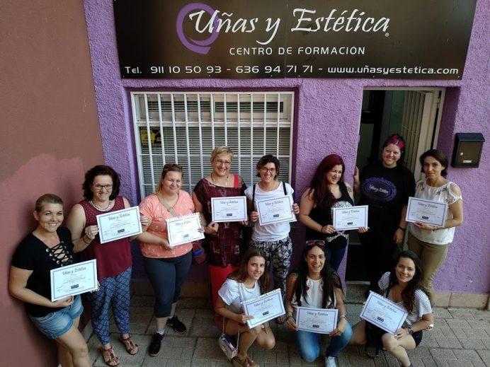 Foto de las alumnas del curso de decoración del día 08/07/18