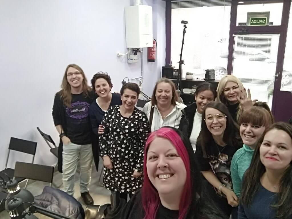 Foto de las alumnas del curso COMPLETO PROFESIONAL en Uñas y Estética. Convocatoria de marzo 2019
