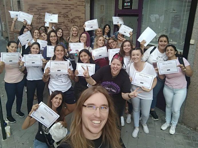 Foto de las alumnas del curso de uñas de gel y acrílico del día 13/09/2019