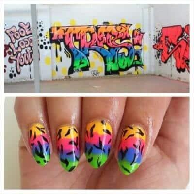 Grafitti nail art