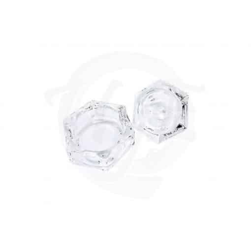 Godet de cristal con tapa