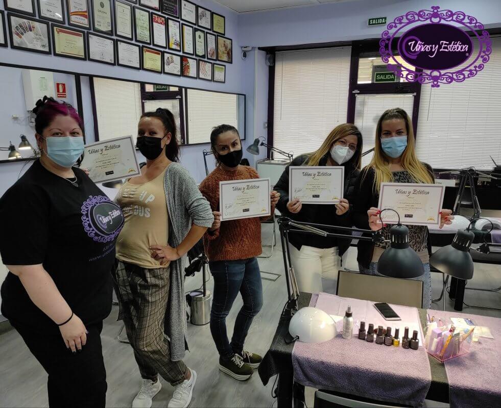 Fotos de las alumnas del curso de Nail Art 4/10/19