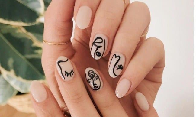 Uñas con silueta femenina