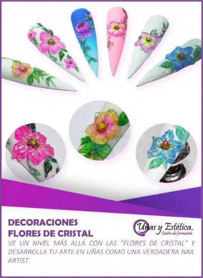 Curso Decoración con flores de cristal - Uñas y Estética
